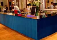Bar (upholstered) BLUE/MIRROR